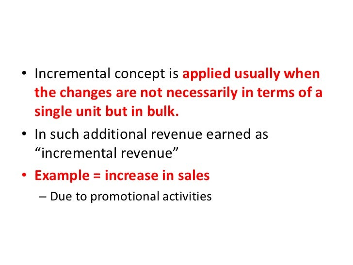 incremental concept in managerial economics
