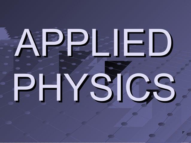 APPLIEDPHYSICS