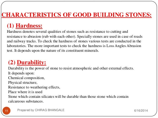 ... CHIRAG BHANGALE; 11. CHARACTERISTICS OF GOOD BUILDING ...