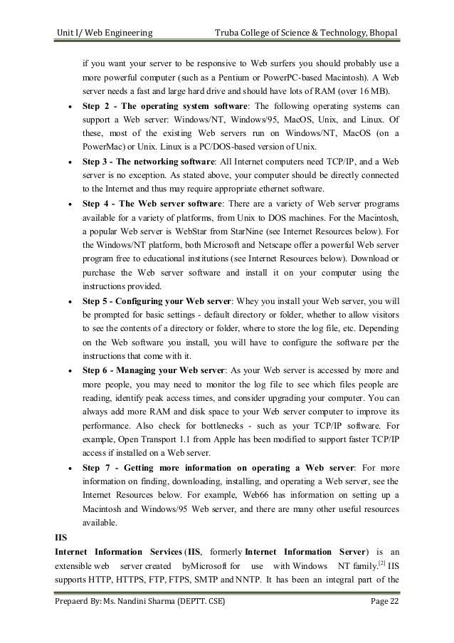 Web Engineering Notes Pdf