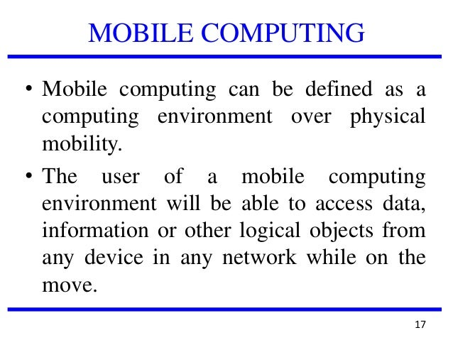 mobile computing essay Executive summary pg 3 introduction pg 4 mobile history pg 4 mobile computing and business pg 7 the mobile web.
