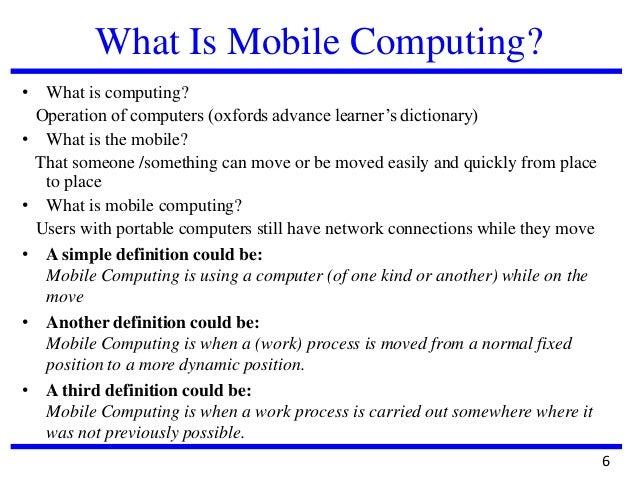 Dissertation wireless mobile computing