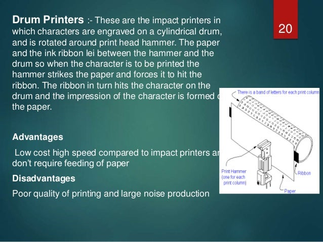 Drum Printer Advantages And Disadvantages