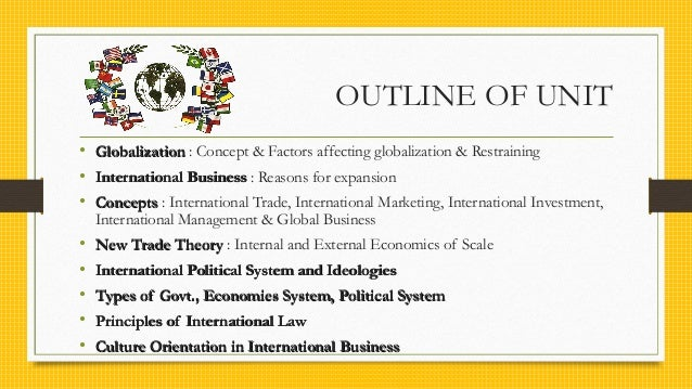 International business unit 1 and 2