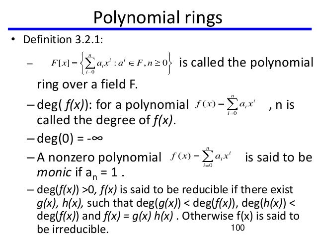 Definition Of Polynomial Ring