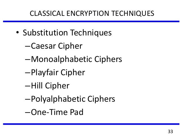 cryptographic techniques for network security