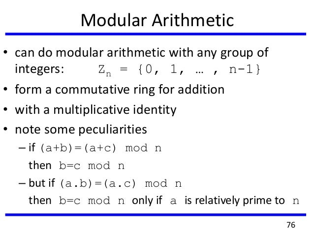 Addition And Multiplicatio Modulo N Is A Ring