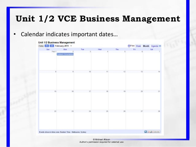 management of business unit 1 Unit 18: managing a business event unit code: f/502/5449 qcf level 3: btec national credit value: 10  unit introduction managing a business event is an activity that many people working in a support role will be involved in  d1 evaluate the management of a business event making recommendations for future improvements.