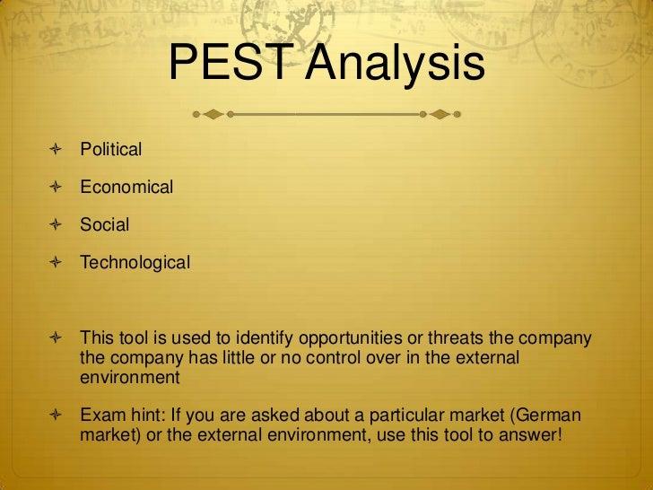 PEST Analysis ...