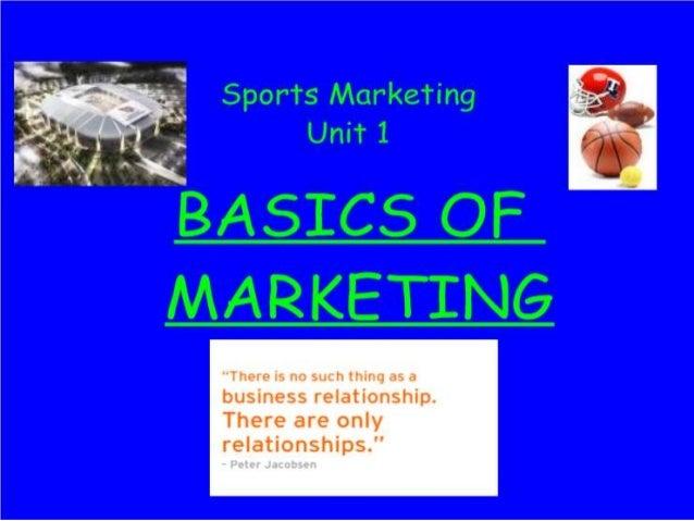 Unit 1  Basics Of Marketing