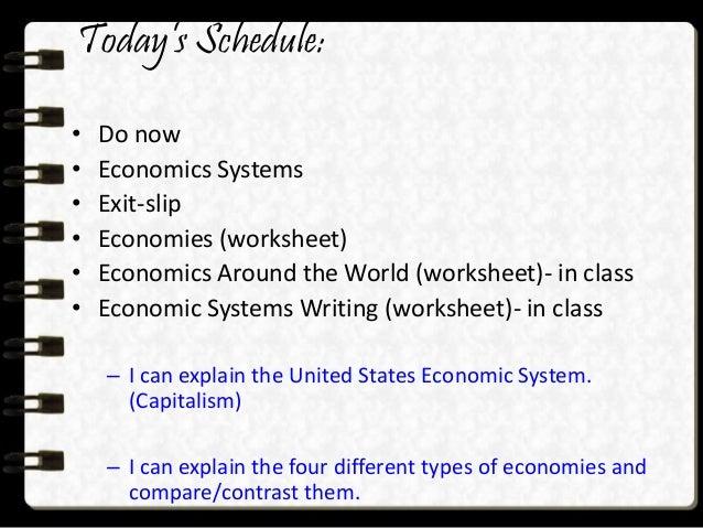 Unit 1 Economics – Economic Systems Worksheet