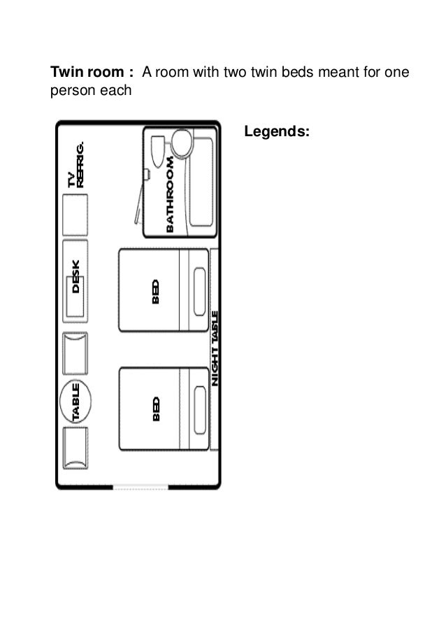 MTA - Unit 1 - Hotel guest room layout