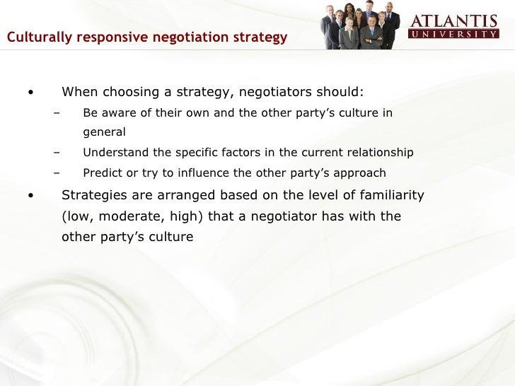 culturally responsive negotiation strategies Negotiation: international cross cultural [sav lecture] international cross cultural culturally responsive negotiation strategies when choosing a.