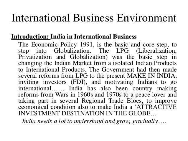 International Business Environment Pdf