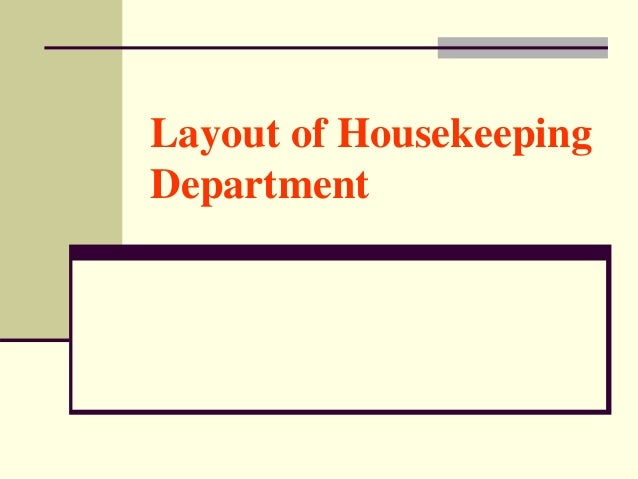 Unit 1 layout of housekeeping department thecheapjerseys Images