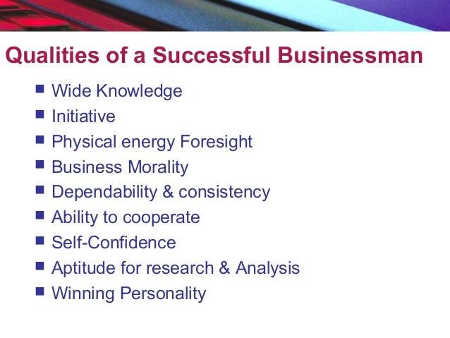 characteristics of a good businessman