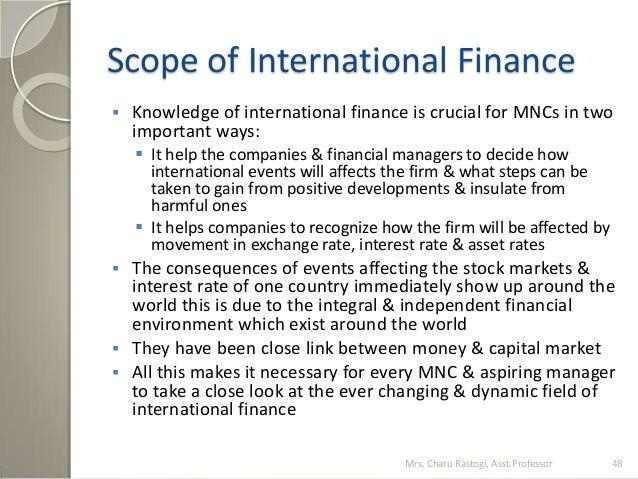 scope of international finance