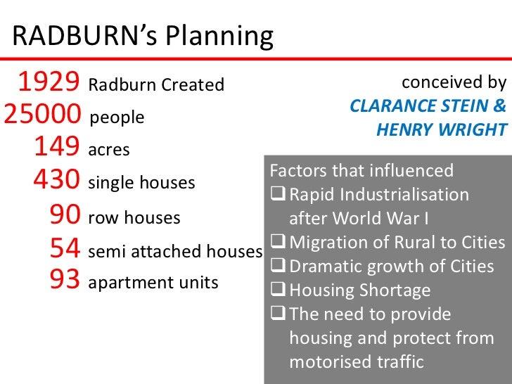 RADBURN's Planning 1929 Radburn Created                        conceived by                                     CLARANCE S...