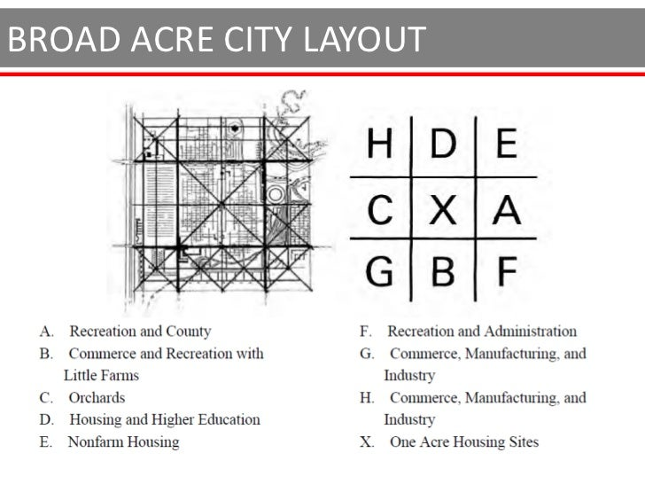 """BROAD ACRE CITY                """"organic buildings - designed by   architecture"""", to reflect the individuality   of the po..."""