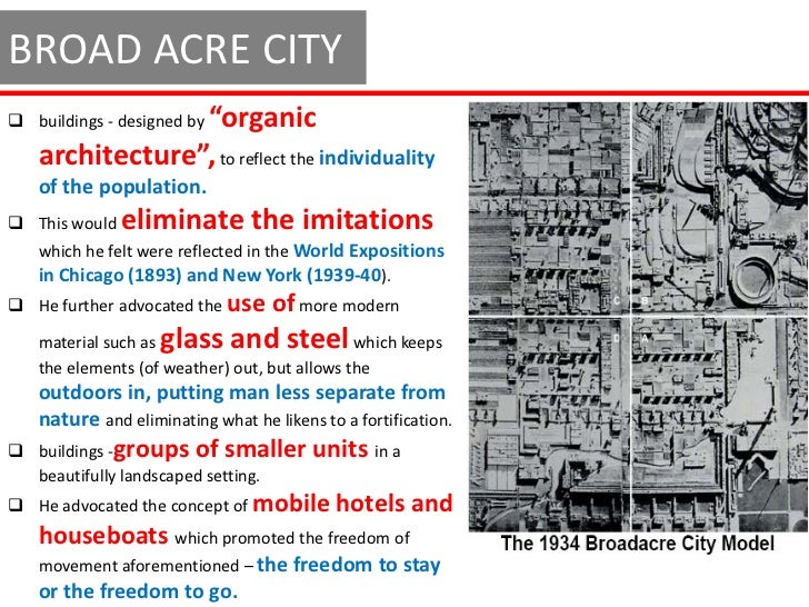 BROAD ACRE CITY LAYOUT