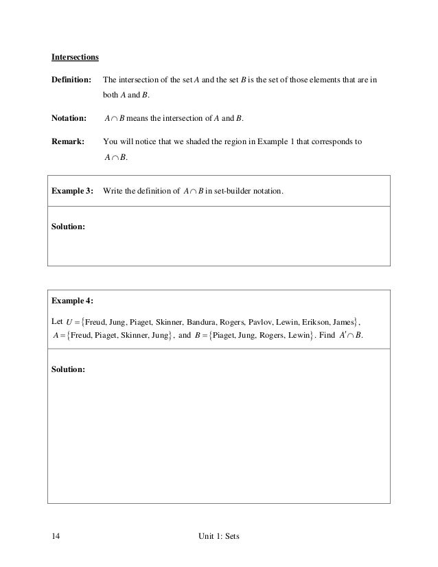 Unit 1 sets lecture notes – Set Builder Notation Worksheet