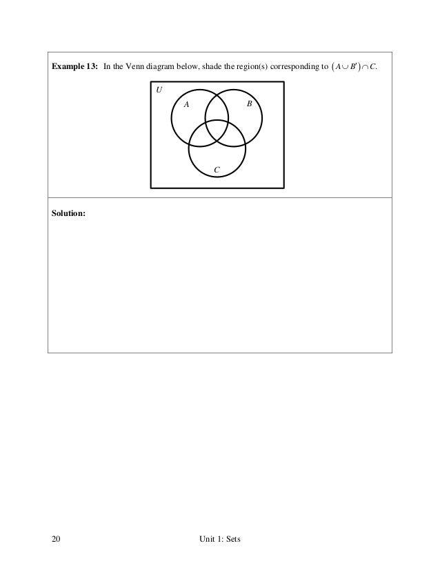 Sample venn diagrams shading venn diagrams worksheet on venn venn diagram regions 20 ccuart Choice Image