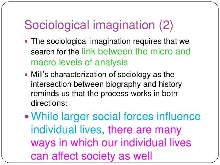 social imagination essay Essay on sociological imagination: c wright mills social imagination it may be a little easier for them to cope with essay on the social imagination of.