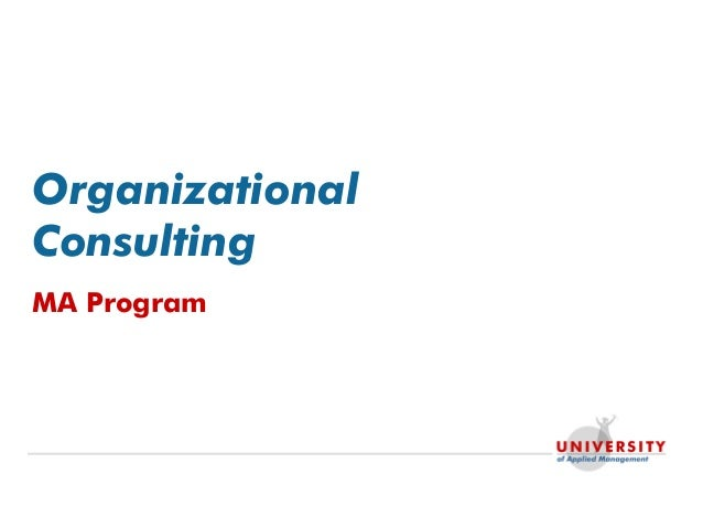 Organizational Consulting MA Program
