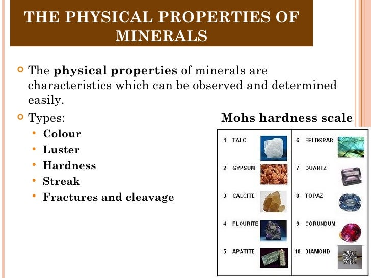 Rocks And Minerals Physical Properties
