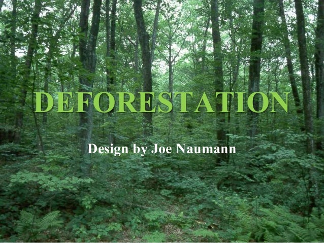 DEFORESTATION Design by Joe Naumann
