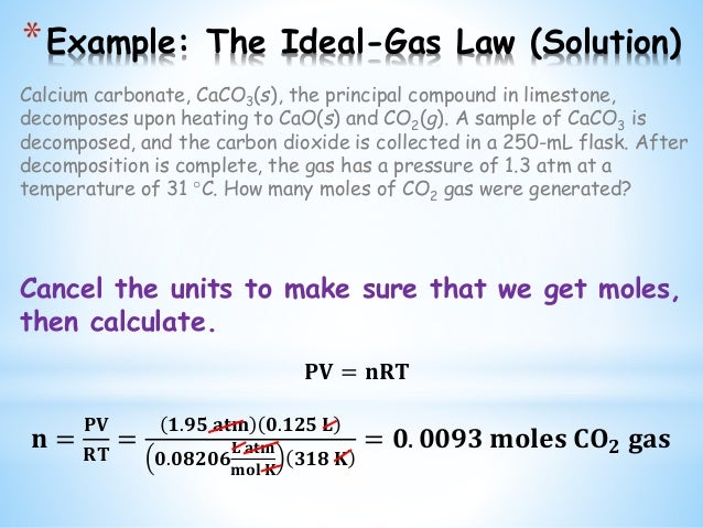 Chem II - Ideal Gas Law (Liquids and Solids)