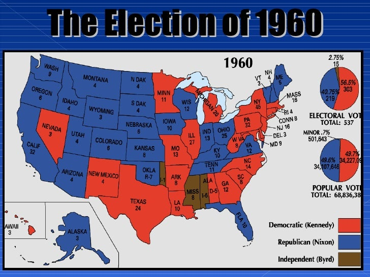 Unit PowerPoint The S And S - Us election 1960 map