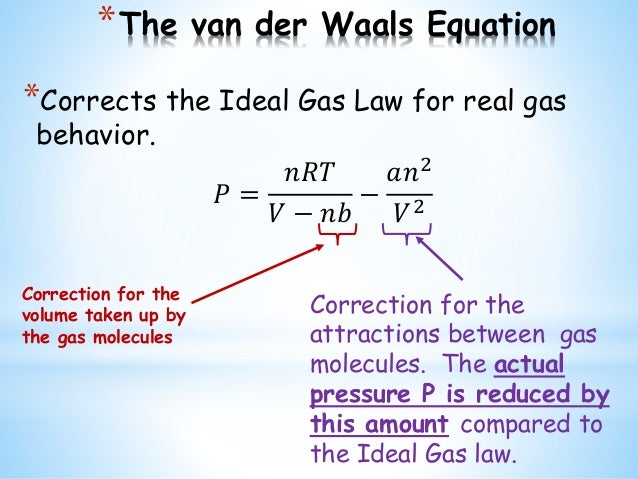 van der waals equation pdf
