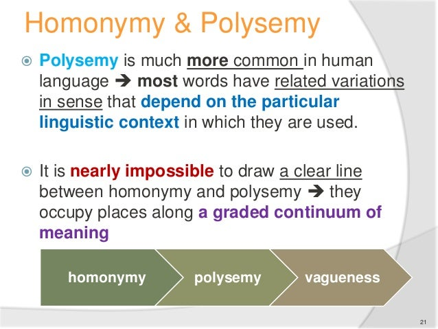 practical use of polysemy