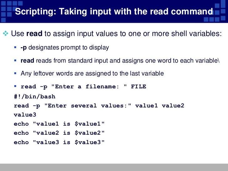 Unit 11 configuring the bash shell – shell script