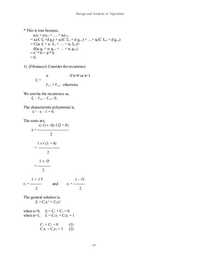 algorithm design and analysis 12 algorithm design: a partof science of computing find newproblems that can be solved via computation science of computing computational solutions of.