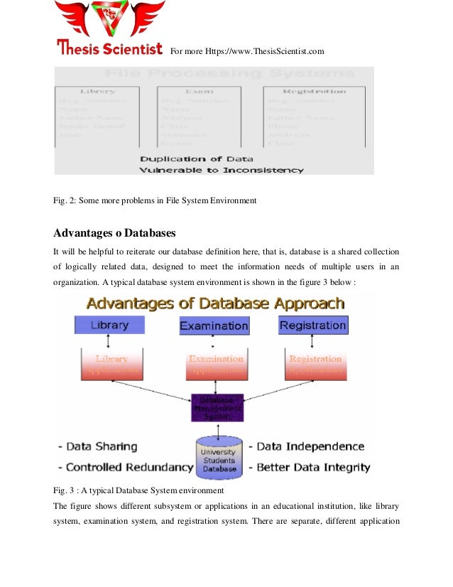 Thesis about database