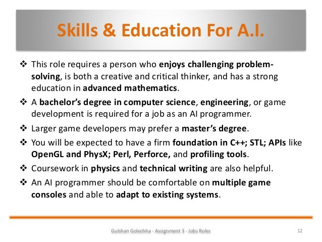 Unit 39 Computer Games Design And Development Assignment: Understand Job Roles Within The