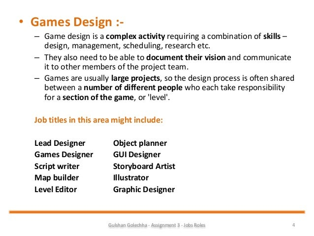 What Are The Job Duties Of A Video Game Designer