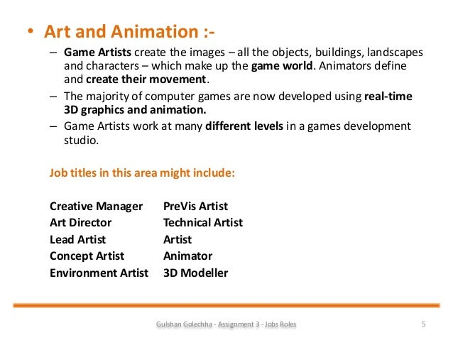 job description for animator