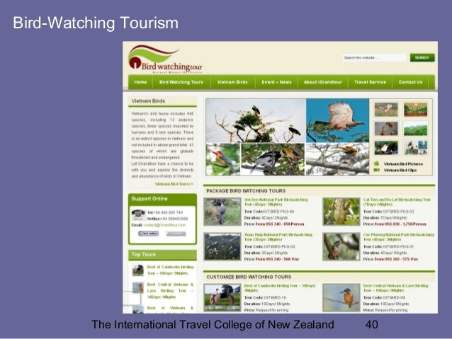 special interest tourism Critically examines various special interest and 'niche' tourism market segments, the growth and diversity of these segments, and their impact on individuals, communities, the tourism industry and policy makers.