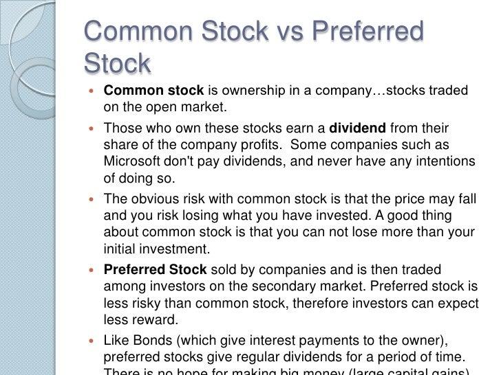 Common vs preferred stock ipo