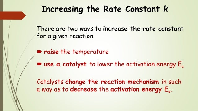 activation energy and temperature change