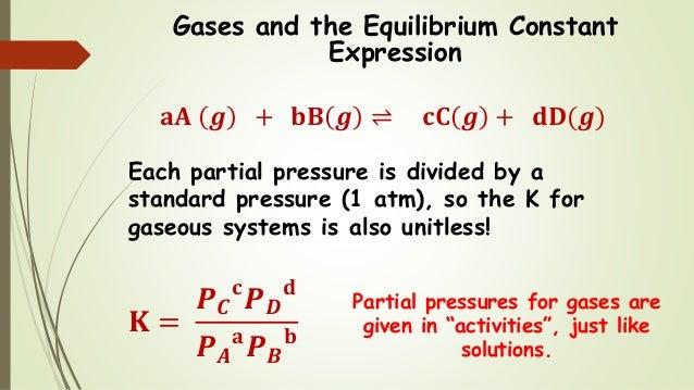 Chem 2 - Chemical Equilibrium III: The Equilibrium Constant