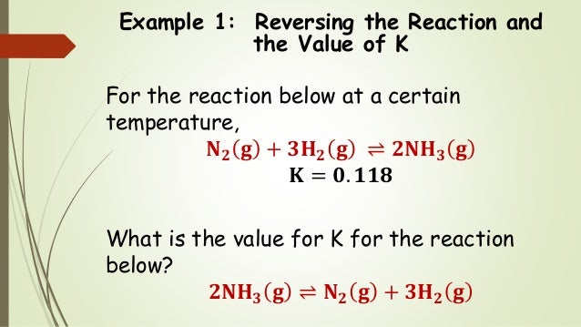 Chem 2 Chemical Equilibrium Iv The Properties Of The Equilibrium C