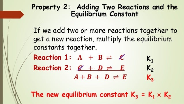Chem 2 - Chemical Equilibrium IV: The Properties of the