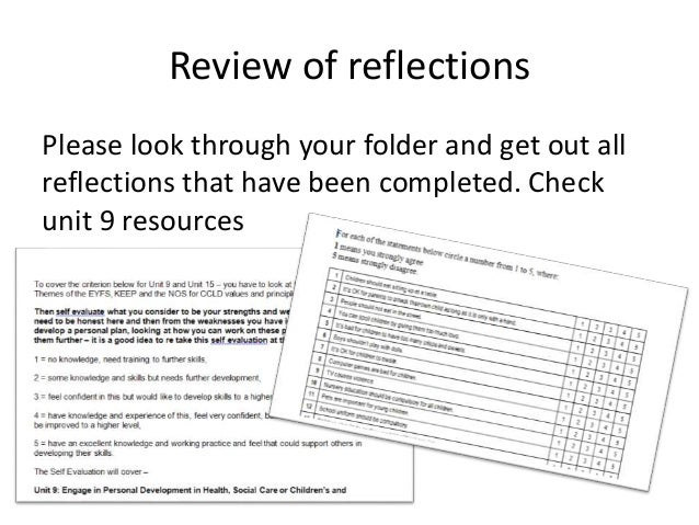 4.2 undertake a reflective analysis of own practice