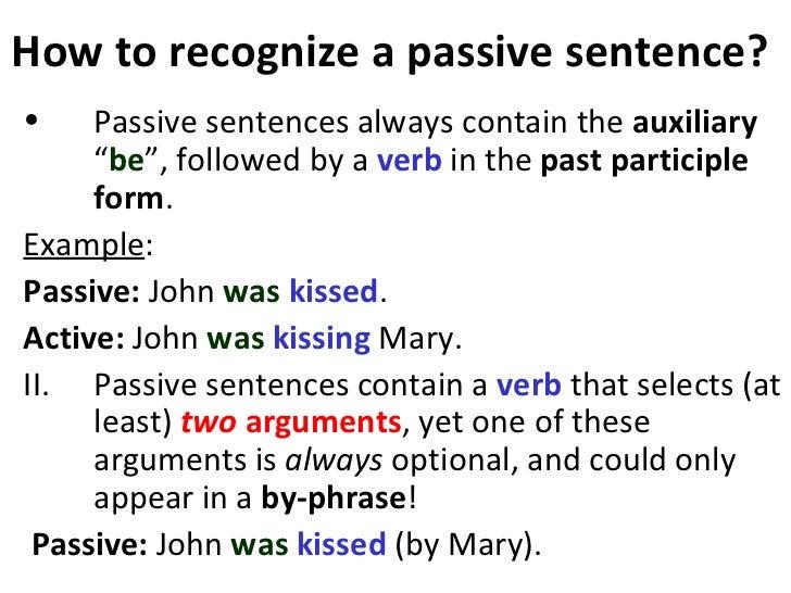 passive sentence