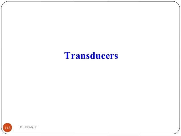 DEEPAK.P113 Transducers