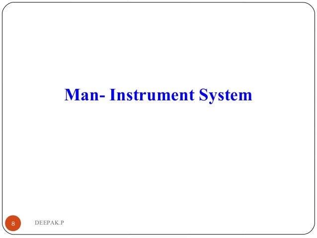 DEEPAK.P8 Man- Instrument System